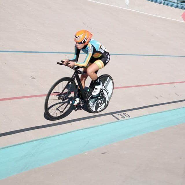 Lily competes in the individual pursuit
